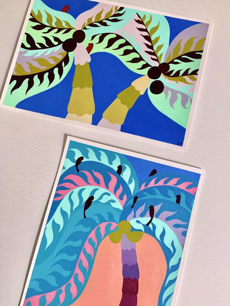 illustrazioni tema piante